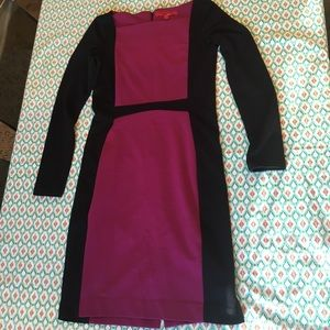 Narciso Rodriguez magenta & black bodycon dress xs